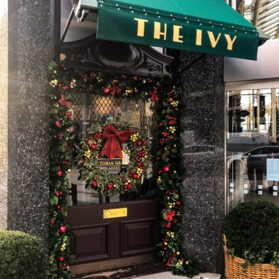 Christmas Entrance to the Ivy in Leeds