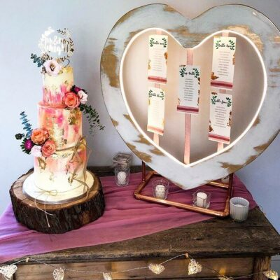 shabby chic heart table plan