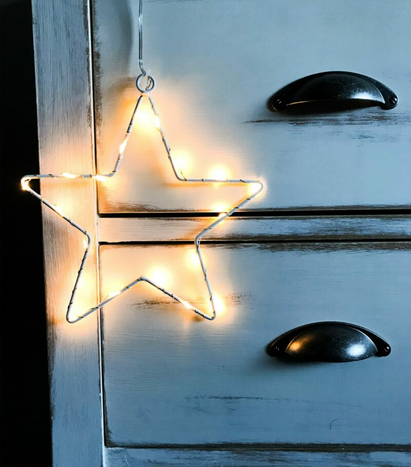 light up wire star